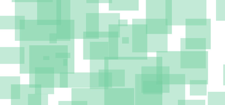 An abstract image of overlapping green squares.