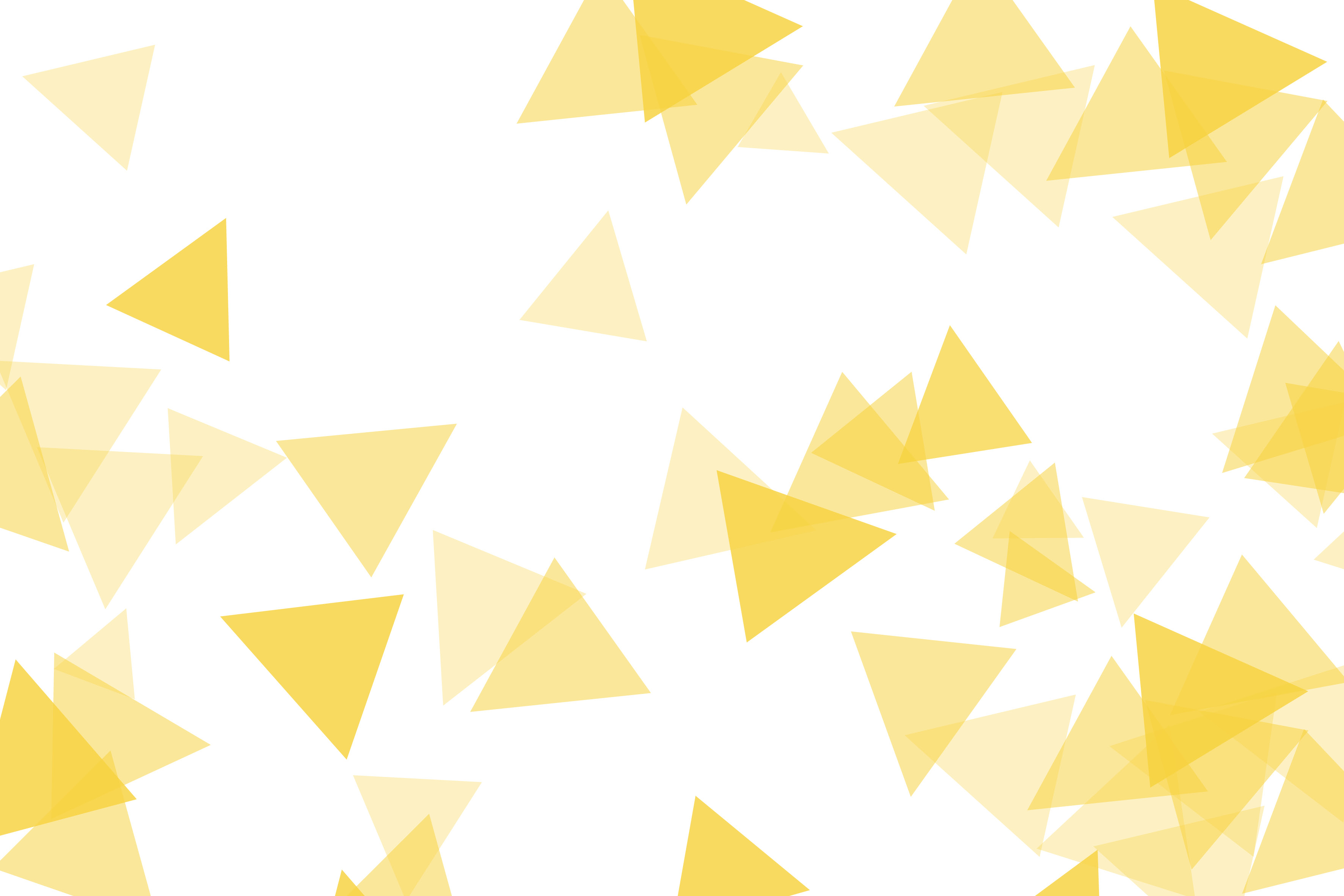 An abstract image of overlapping yellow triangles.